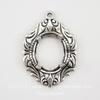 """Сеттинг - основа - подвеска """"Флора"""" для камеи или кабошона 10х8 мм (оксид серебра)"""