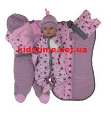 Набор одежды для новорожденного в роддом Звездочка розовый