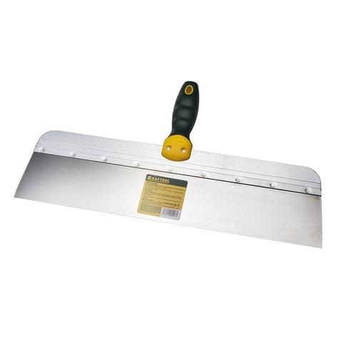Шпатель KRAFTOOL фасадный с двухкомпонентной ручкой, нержавеющее полотно, 450мм