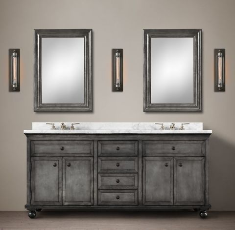 Annecy Metal-Wrapped Double Vanity