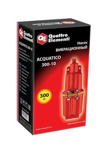 Вибрационный насос QUATTRO ELEMENTI Acquatico 300-10 (300 Вт, 1200 л/ч, для чистой, 70м, к (910-348)