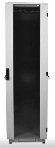 Шкаф телекоммуникационный напольный 33U (600 × 800) дверь стекло, цвет чёрный