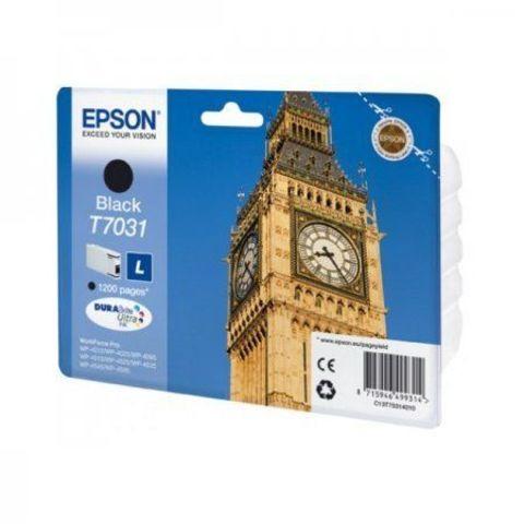 Картридж Epson T7031 черный для принтеров WorkForce Pro WP-4015DN/4025DW/4095DN/4515DN/4525DNF/4535DWF/4595DNF (1,2K) C13T70314010