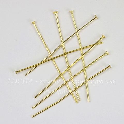 Комплект пинов - гвоздиков 38х0,7 мм (цвет - золото), 20 гр (примерно 110 шт)