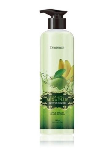 DEOPROCE BODY Гель для душа яблочно-банановый HEALING MIX & PLUS BODY CLEANSER APPLE BANANA 750g