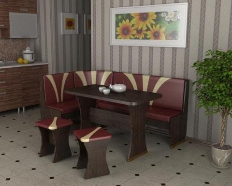 Обеденная зона САВАНЬЕ 5 дуб венге / бордо-какао