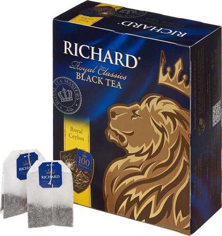 "Чай черный ""Richard"" Royal Ceylon 2г*100"