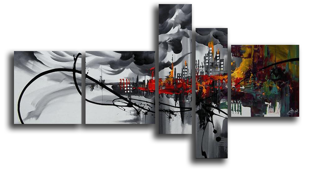 Модульные картины Конец света (Ручная работа маслом) р91.png