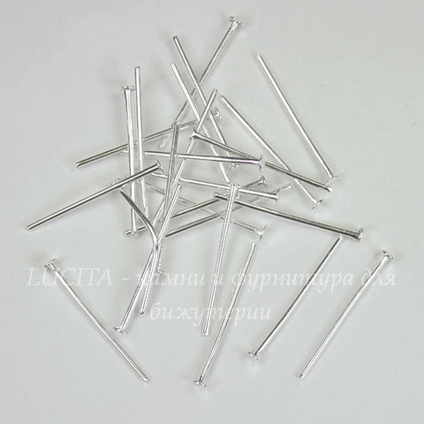 Комплект пинов - гвоздиков 20х0,8 мм (цвет - серебро), 10 гр (примерно 110 шт)