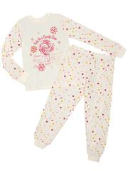 10603 пижама для девочек, бежевая