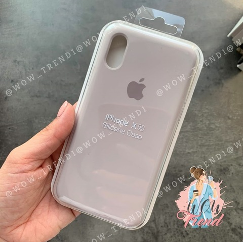 Чехол iPhone X/XS Silicone Case Full /lavender/ лаванда