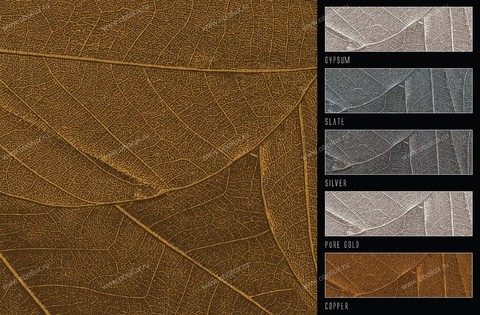 Панно Italreflexes Macro Leaves 001 Gold, интернет магазин Волео