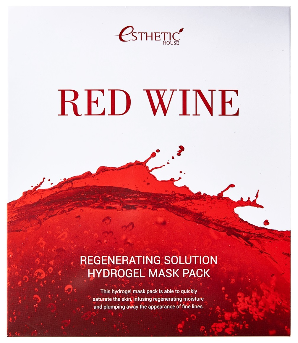 Гидрогелевые маски [ESTHETIC HOUSE] Гидрогелевая маска для лица RED WINE REGENERATING SOLUTION HYDROGEL MASK PACK 011886.jpg