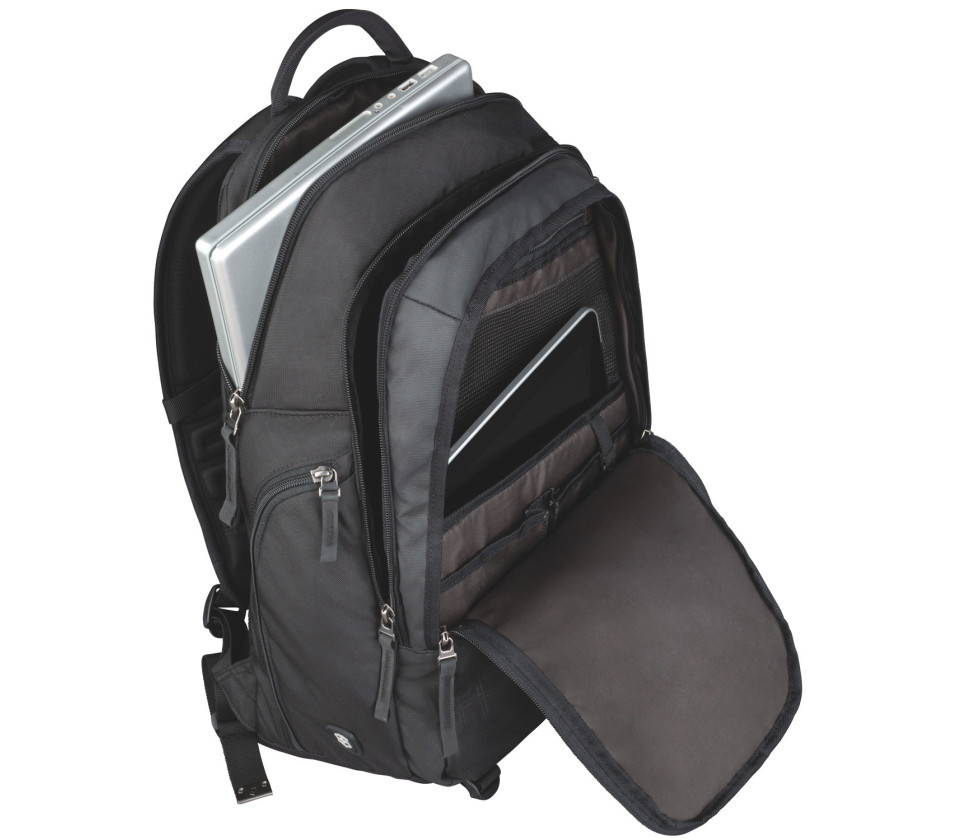 Рюкзак Victorinox Altmont 3.0, Vertical-Zip Backpack, черный, 33x18x49 , 29 л
