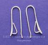 Швензы - крючки длинные с петелькой для подвески, 27 мм (цвет - серебро), пара