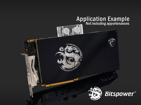 Водоблок Bitspower MSI GTX 1080 GAMING X Acrylic Limited Edition (Clear)