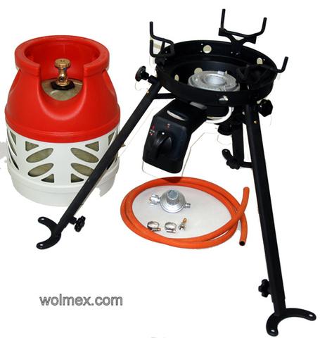 Комплект 45. Горелка газовая для вока Wolmex C3201D с композитным баллоном и редуктором EN61 - V50
