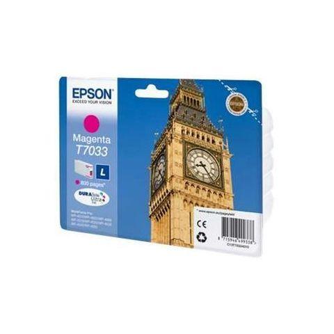 Картридж Epson T7033 пурпурный для принтеров WorkForce Pro WP-4015DN/4025DW/4095DN/4515DN/4525DNF/4535DWF/4595DNF (0,8K) C13T70334010