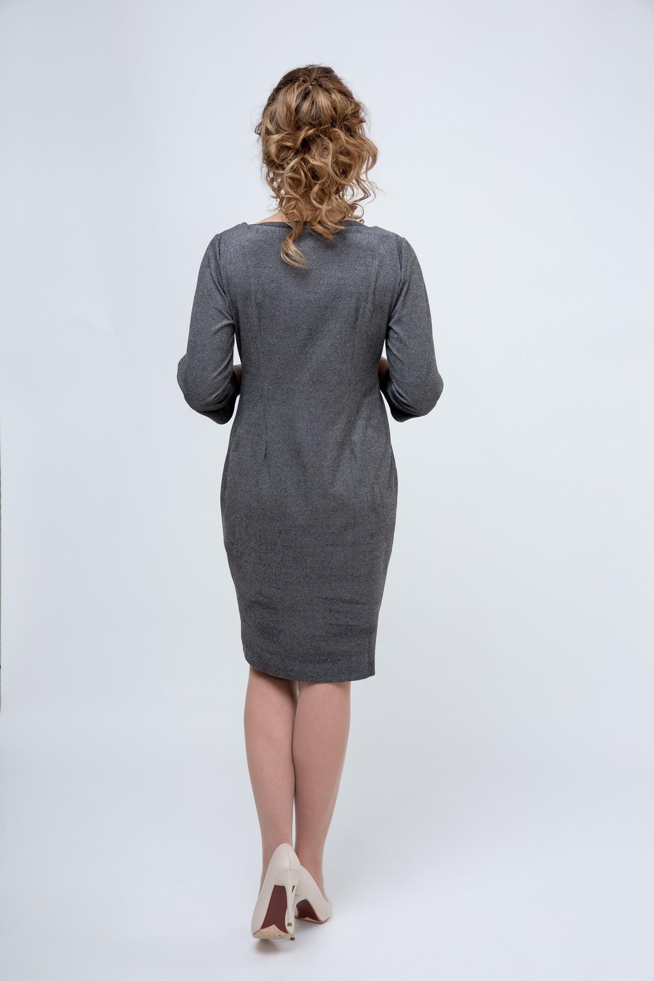 Платье 09082 серый