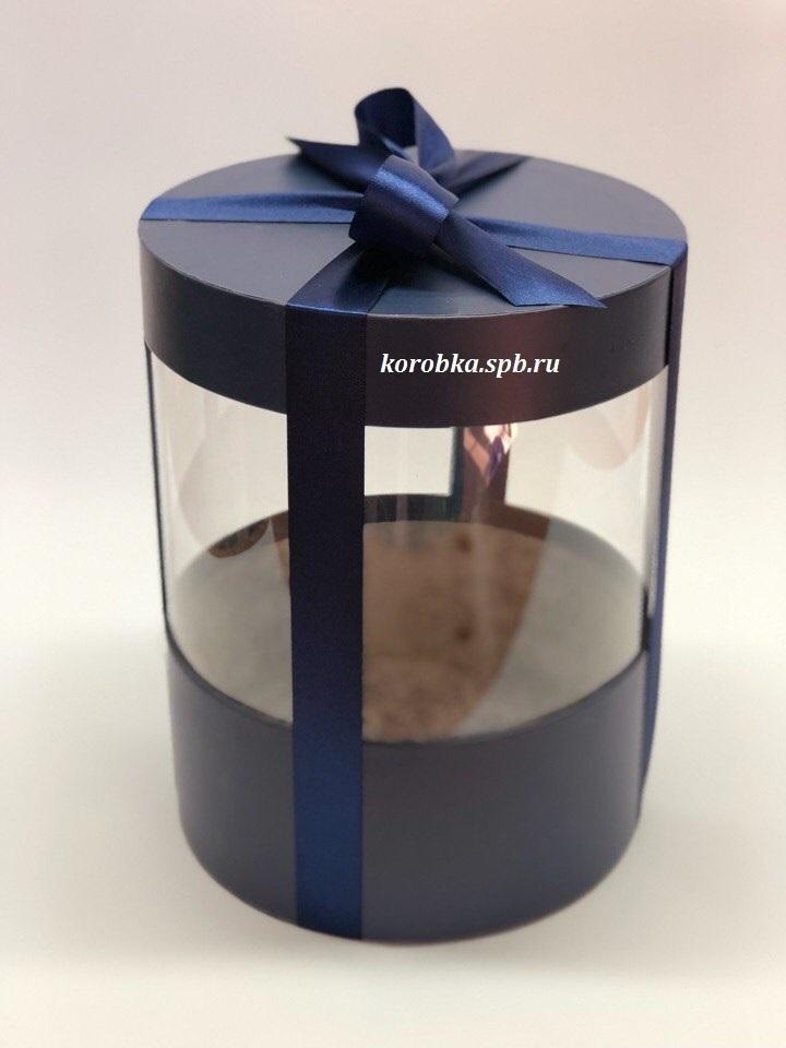 Коробка аквариум 16 см Цвет : Темно синий . Розница 350 рублей .
