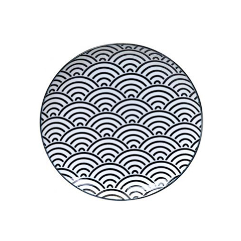 Тарелка Tokyo Design Studio Nippon Black 8663