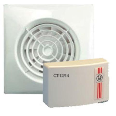 Вентилятор накладной S&P KIT Silent 100 CZ 12V + CT 12/14 (с понижающим трансформатором)