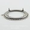 Сеттинг - основа - подвеска для камеи или кабошона 38 мм (оксид серебра)
