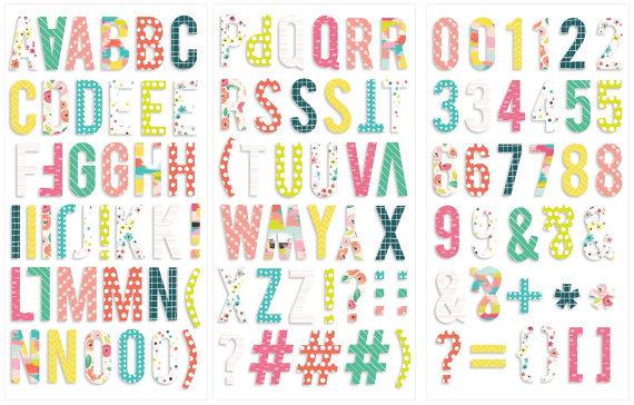Чипборд Алфавит  Fancy Free  от Pink Paislee