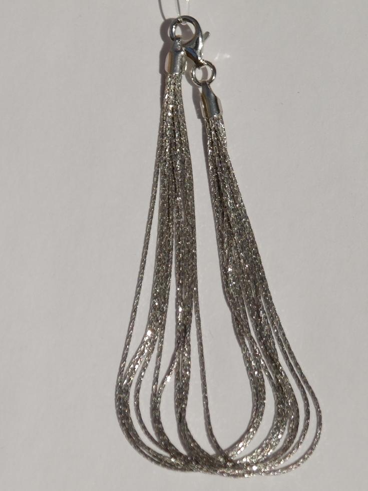 Браслет из серебра,10 нитей(серебряный браслет).