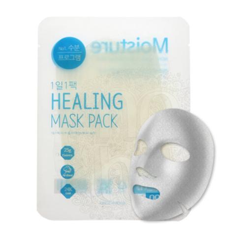 Ежедневная тканевая увлажняющая маска с экстрактом алоэ, 28 г / NO:HJ Healing Mask Pack №1 Moisture