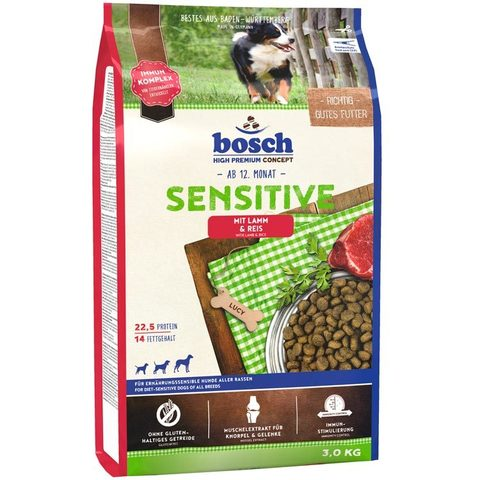 Корм для собак Bosch (3 кг) Sensitive Lamb & Rice