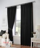 Тоскана (чёрный). Плотные шторы рогожка.