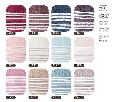 Набор полотенец 2 шт Vingi Ricami Rossella светло-серый