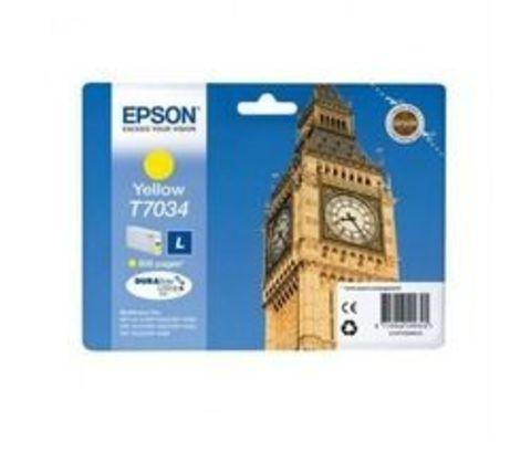 Картридж Epson T7034 желтый для принтеров WorkForce Pro WP-4015DN/4025DW/4095DN/4515DN/4525DNF/4535DWF/4595DNF (0,8K) C13T70344010