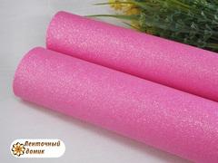 Кожа с мелким глиттером ярко-розовый