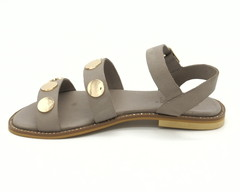 Серые сандалии из натуральной кожи