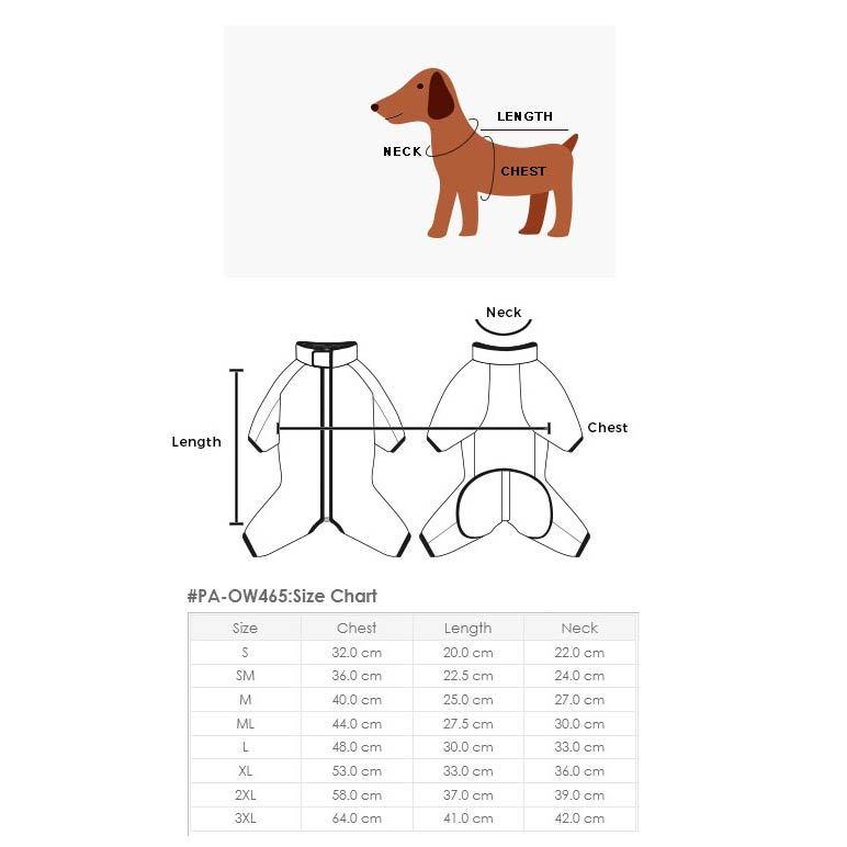 465 PA - Дождевики-пыльники для собак