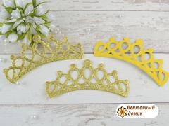 Заготовка Корона овальная перфорация золотая (опт)