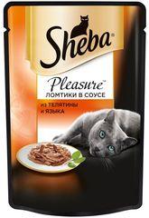 """Корм для кошек Sheba pleasure """"Из телятины и языка"""" 85г"""