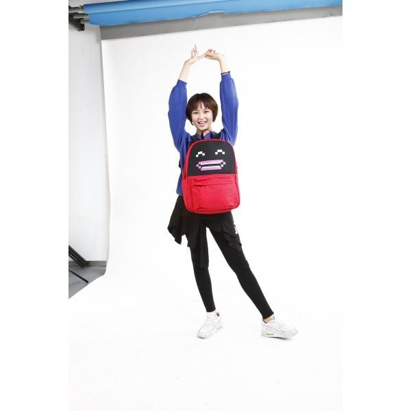 Школьный пиксельный рюкзак Classic School красный, размер рюкзака
