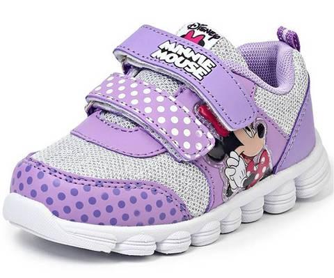 Кроссовки Минни Маус (Minnie Mouse) на липучках для девочек, цвет сиреневый. Изображение 2 из 8.