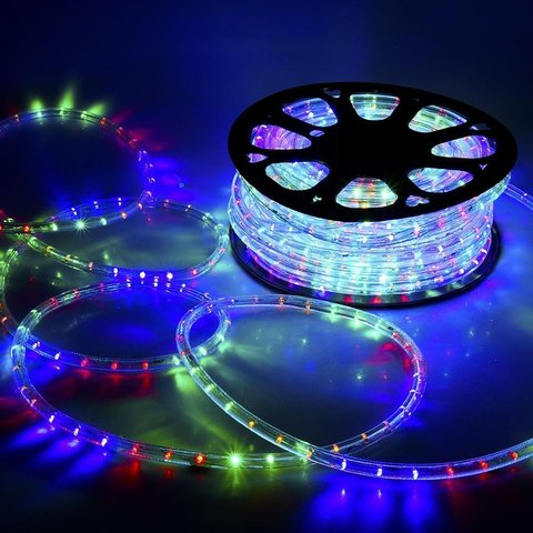 100 метров разноцветного шланга дюралайт мультик rgb led