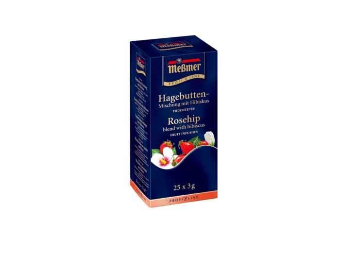 Чай фруктовый в пакетиках Messmer Шиповник, 25 пак/уп, 3,5 г