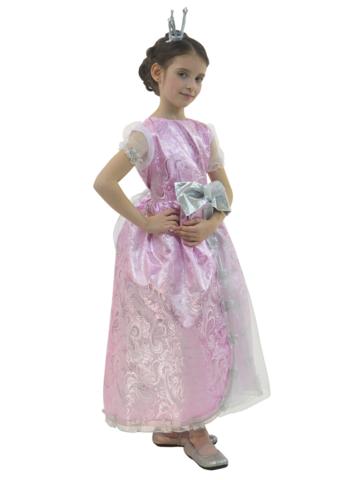 Костюм Принцесса Люкс розовая 1