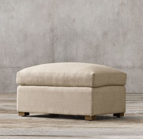 Belgian Classic Shelter Arm Ottoman