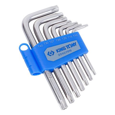 KING TONY (20407PR) Набор Г-образных ключей TORX с отверстием, T10-T40, 7 предметов