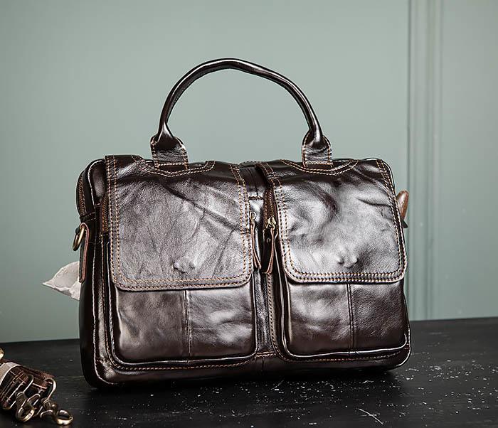 BAG495-1 Мужской деловой портфель из натуральной кожи