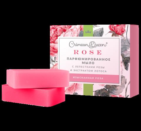 Crimean Queen Набор Парфюмированного мыла с лепестками роз и экстактом лотоса Изысканная роза, 200г