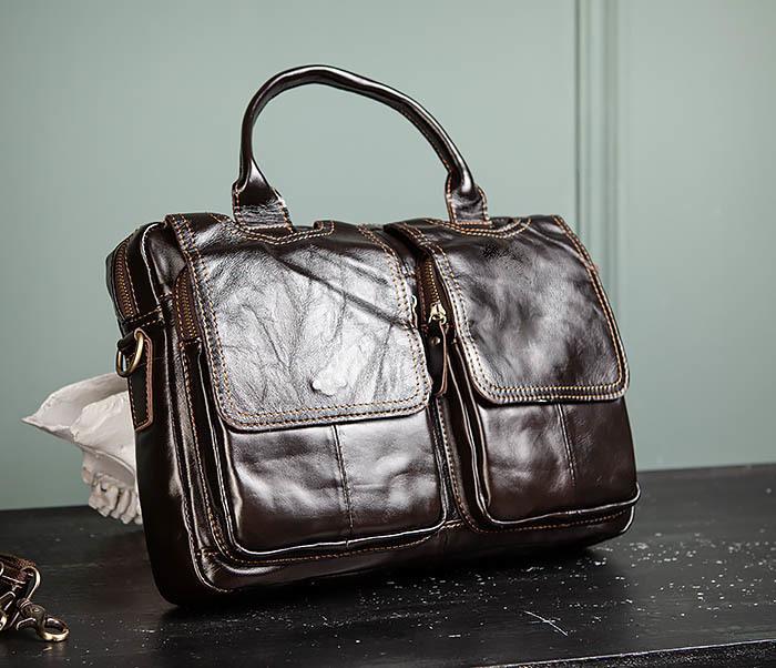 BAG495-1 Мужской деловой портфель из натуральной кожи фото 02