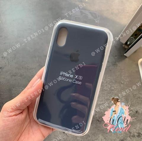 Чехол iPhone X/XS Silicone Case Full /midnight blue/ темно-синий